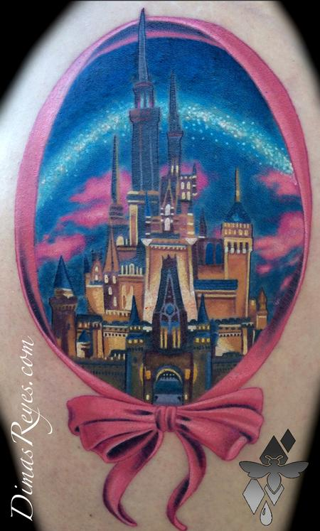 Realistic Color Cinderella Castle Design Thumbnail