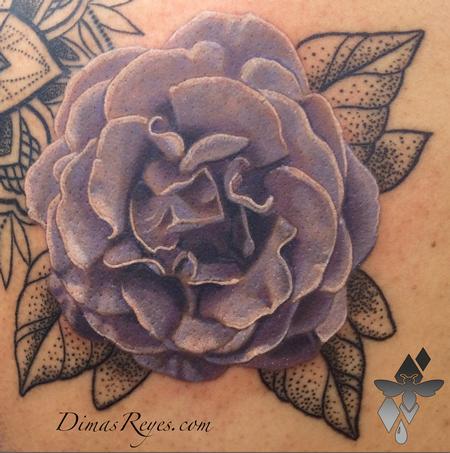 Dimas Reyes - Realistic Flower Tattoo