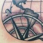 Tattoos - Black and Grey Atlas/ Compass Tattoo - 117845