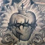 Tattoos - Black and Grey Faith Tattoo detail - 117850
