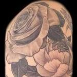 Tattoos - Black and Grey Flowers Tattoo - 119320