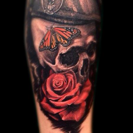 Michele Pitacco - Skull Rose Butterfly