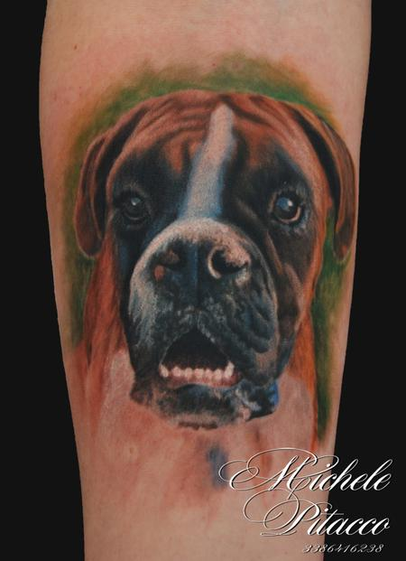 Dog Boxer Tattoo Design Thumbnail