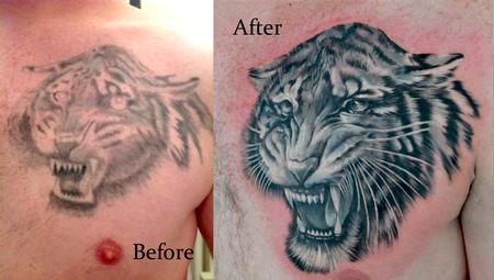 cover up tiger Tattoo Design Thumbnail