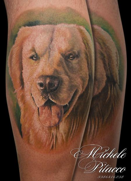 Golden retriver Tattoo Design Thumbnail