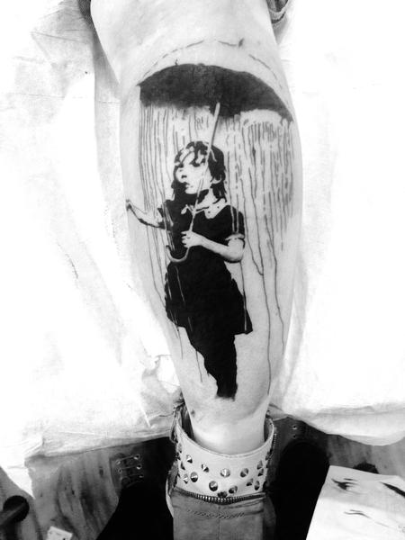Banksy Tattoo Design Thumbnail