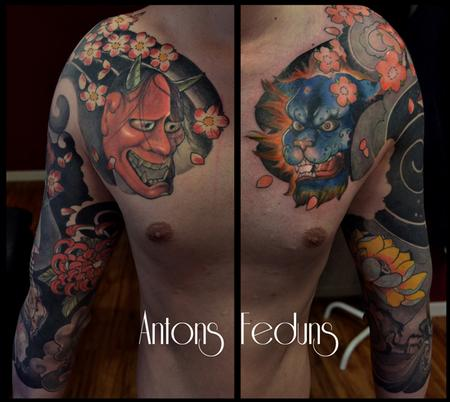 Japanese Sleeves Tattoo Design Thumbnail