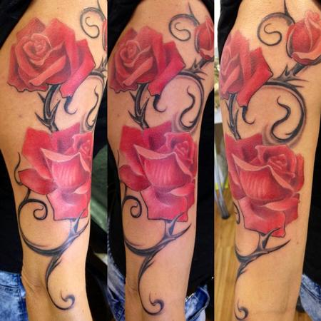 Decoration with roses Tattoo Design Thumbnail