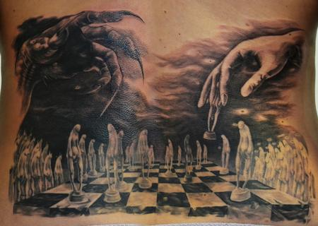 chessboard devil good Tattoo Design Thumbnail