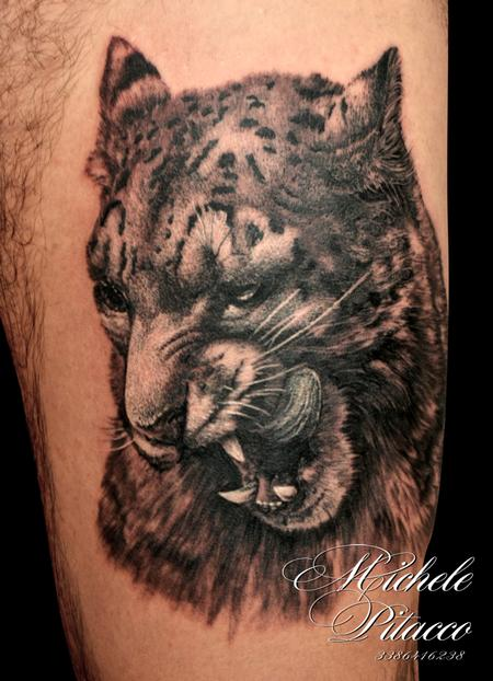 Snow Leopard Tattoo Design