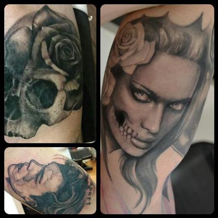 Queen Muerte Tattoo Design Thumbnail