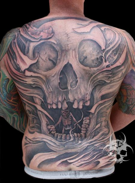 Abstract skull backpiece  Tattoo Design Thumbnail