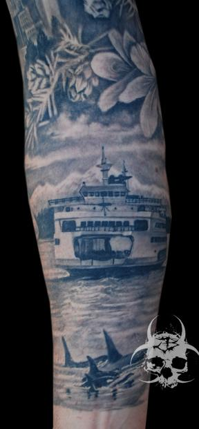 Seattle sleeve by jeremiah barba tattoos for Best tattoo artists in seattle