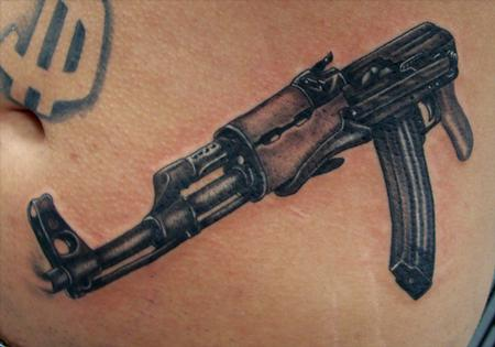 Ak 47 by steve gibson tattoonow for Alaska tattoo shops