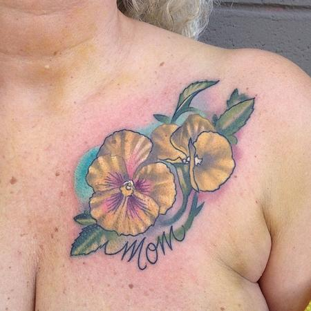 Tattoos - icicle pansies - 89929