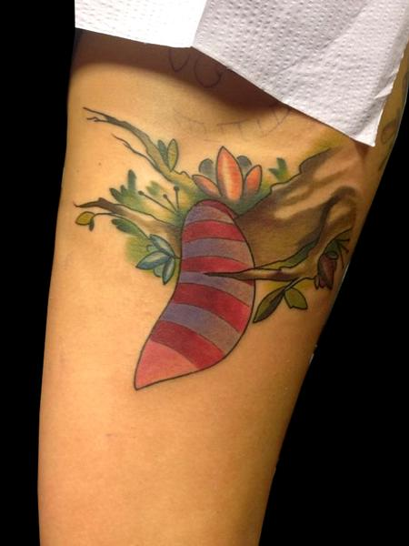 Tattoos - cheshire cat tail in the trees - 87259