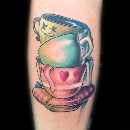 Tattoos - Stacked tea cups - 86286