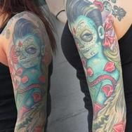 Tattoos - Day of the Dead Pinup - 79960