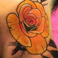 Tattoos - Yellow rose  - 93766