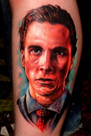 Paul Acker - Patrick Bateman (Christian Bale) from American Psycho Tattoo