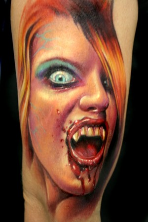 Paul Acker - Vampire Girl Tattoo