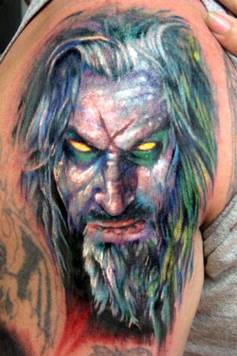 Off the Map Tattoo : Tattoos : Paul Acker : Rob Zombie