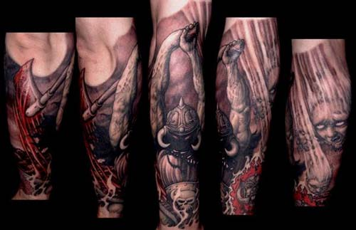 Battle Axe Tattoo With battle axe tattoo