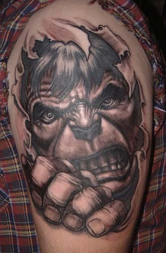Tattoos - Incredible Hulk Tattoo - 28928