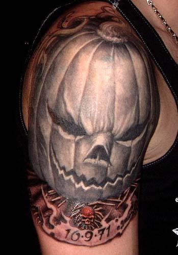Tattoos - Evil Jack O'Lantern tattoo - 28929