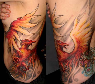 pheonix tattoo. Fire Phoenix tattoo