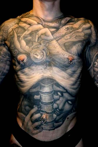 Paul Booth - Inner demons full upper body tattoo