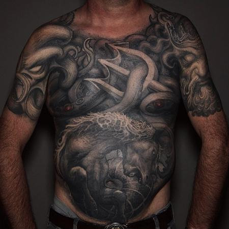 Tattoos - Paul Booth Full Front Tattoo - 108494
