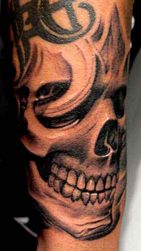 Tattoos - Skull tattoo - 28903
