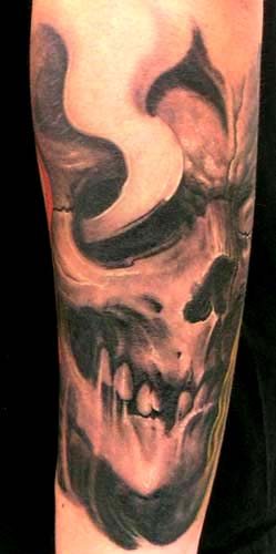 Tattoos - Skull tattoo - 28904