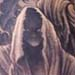 tattoos/ - Hooded monks with trees side tattoo - 28941