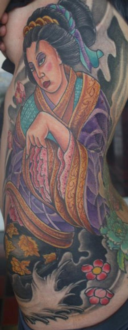 Tattoos - Geisha on Ribs - 81143