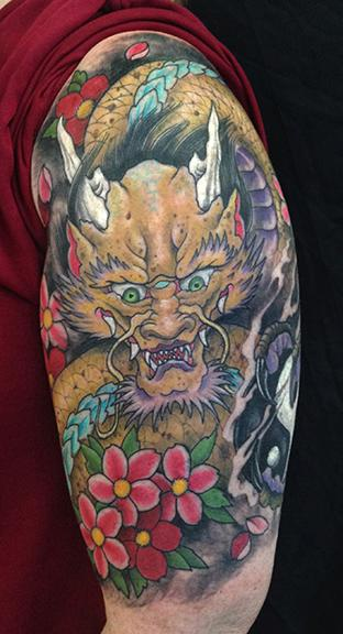 Tattoos - Golden Dragon - 108604