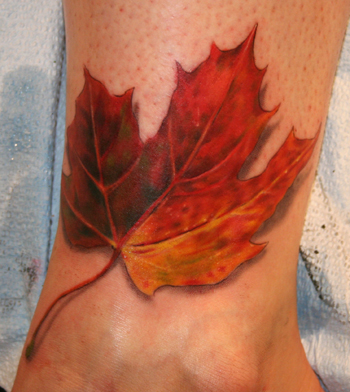 Fall leaf by phil young tattoonow for Fall tree tattoo