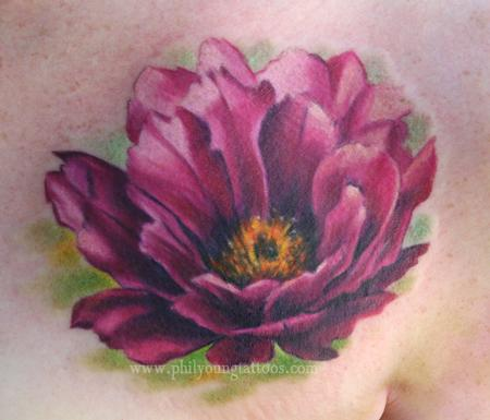 cactus flower Tattoo Design Thumbnail