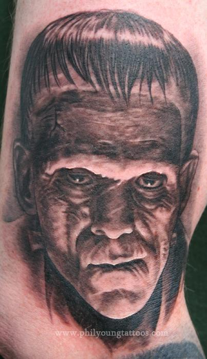 Phil Young - Frankenstein Tattoo portrait