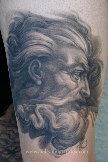 Phil Young - Michelangelos God Healed tattoo