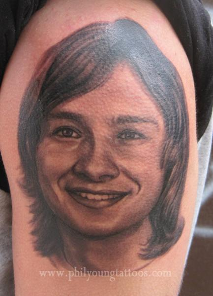 Phil Young - Portrait tatttoo in Iceland