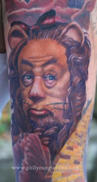 Cowardly Lion  Tattoo Design Thumbnail