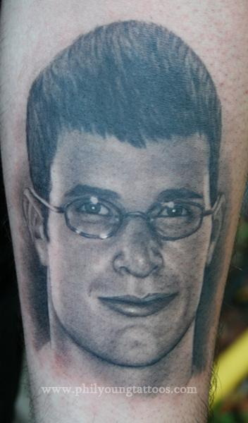 Phil Young - Portrait tattoo