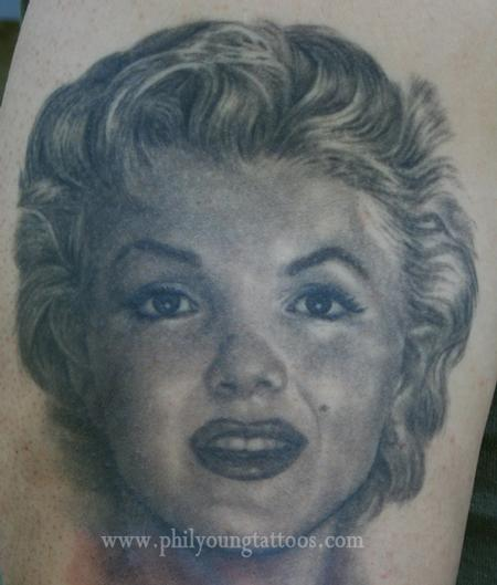 Phil Young - Marilyn Monroe tattoo portrait
