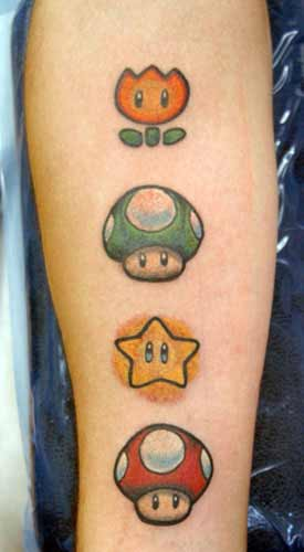 Mario tattoos, THIS WOULD BE CUTE FOR MATCHING TATTOOS ... |Mario Star Tattoo