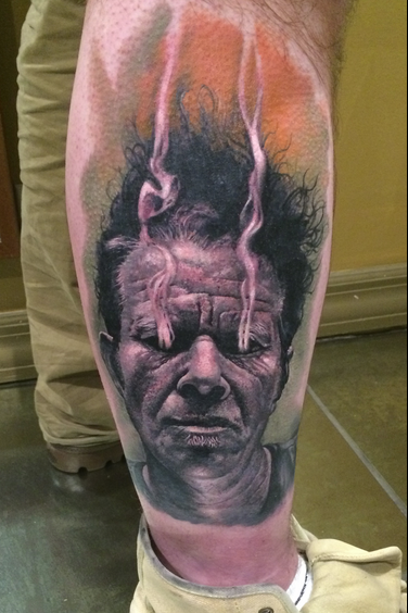 Tom Waits on fire Tattoo Design Thumbnail