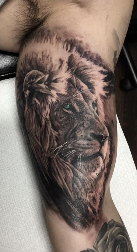 Tattoos - Lion - 129838