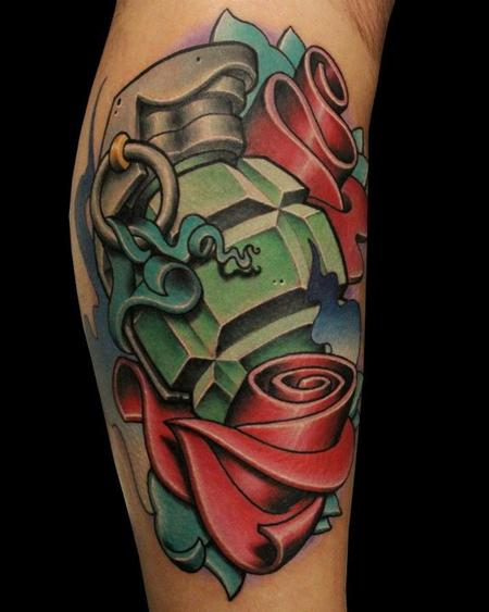 Jeremy Miller - Grenade and roses