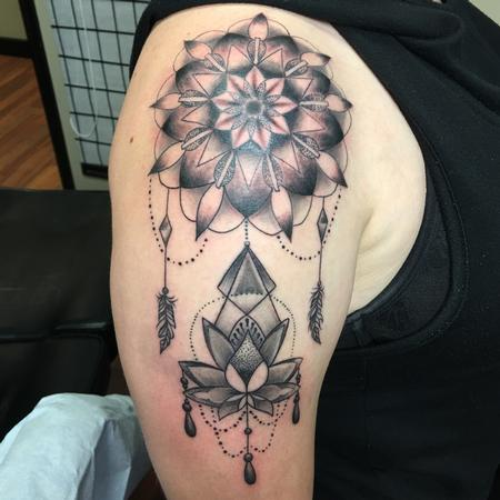 Tattoos - mandala with lotus - 130551